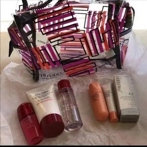 Shiseido MINI skincare items & cosmetic bag